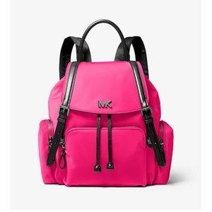 Michael Kors neon pink nylon backpack medium